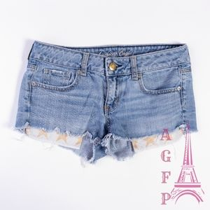 American Eagle cut off exposed pockets jean shorts